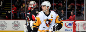 PENS DEFEAT SENS, 5-4, IN OFFENSIVE SHOWCASE