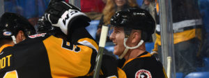PENGUINS DEFEAT WOLF PACK, 3-2