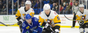 PENGUINS OUTLAST COMETS FOR 3-2 VICTORY