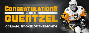 JAKE GUENTZEL NAMED CCM/AHL ROOKIE OF THE MONTH