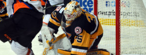 PENGUINS SHUT-OUT BY PHANTOMS, 3-0