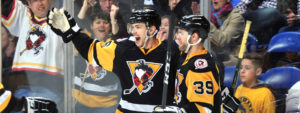 PENGUINS COME BACK, DEFEAT SOUND TIGERS IN SEASON FINALE, 5-4