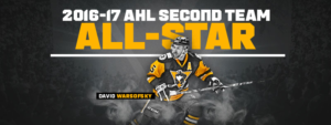 DAVID WARSOFSKY NAMED 2016-17 AHL SECOND TEAM ALL-STAR