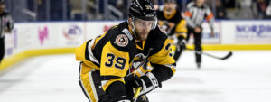 HAGGERTY, PENGUINS SOAR PAST SOUND TIGERS WITH 5-2 WIN