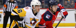 PENGUINS FALL IN OVERTIME TO WOLF PACK, 1-0