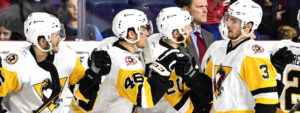 PENGUINS' PEDAN SCORES HAT TRICK IN 4-3 WIN OVER ROCKET