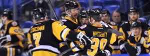 PENGUINS CAPTURE EIGHTH-STRAIGHT WIN BY BEATING PHANTOMS, 4-1