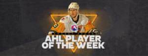 ANDREY PEDAN NAMED CCM/AHL PLAYER OF THE WEEK
