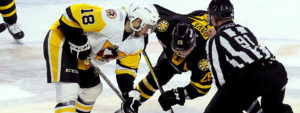 PENGUINS FALL TO BRUINS, 4-0