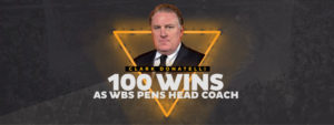 DONATELLI WINS 100th WITH PENGUINS