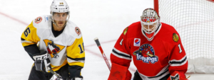 PENGUINS SHUT-OUT BY DELIA, ICEHOGS