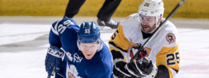 PENGUINS FORCE OVERTIME AGAINST FIRST PLACE MARLIES