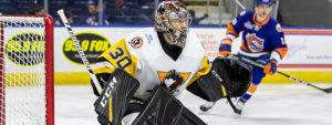 FOUR-GOAL FIRST PERIOD GIVES PENGUINS 5-2 WIN AT BRIDGEPORT