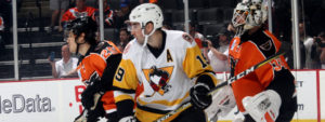 PENGUINS LOSE CLOSE BATTLE WITH PHANTOMS IN SHOOTOUT, 2-1