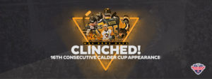 WILKES-BARRE/SCRANTON CLINCHES 16TH-STRAIGHT PLAYOFF BERTH