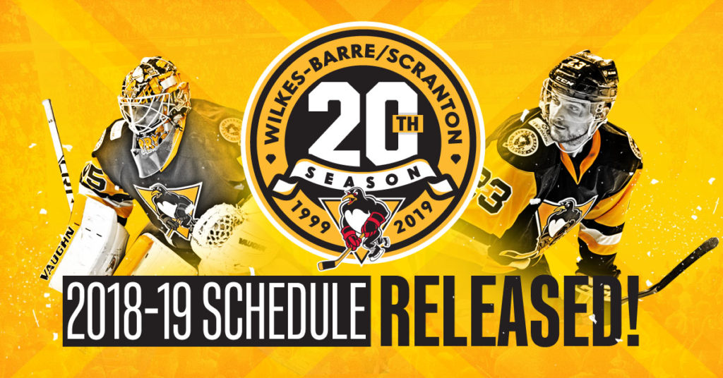 photo regarding Sabres Schedule Printable titled WILKES-BARRE/SCRANTON ANNOUNCES 20TH Time Program