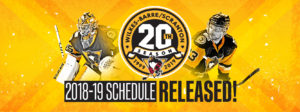 WILKES-BARRE/SCRANTON ANNOUNCES 20TH SEASON SCHEDULE