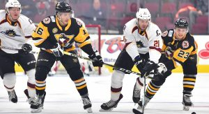 PENGUINS' POWER PLAY EARNS A 3-0 WIN AT CLEVELAND