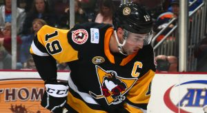 PENGUINS LOSE TO CRUNCH IN OVERTIME, 4-3
