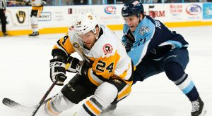PENGUINS DEFEAT ADMIRALS, 5-2