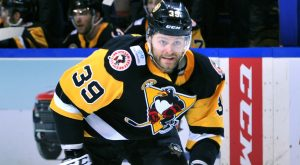 HAGGERTY TALLIES TWICE, BUT PENGUINS FALL TO HERSHEY, 4-2