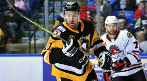 JIMMY HAYES SCORES TWICE IN PENGUINS' 4-1 WIN OVER ICEHOGS