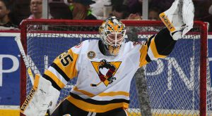 PENGUINS BATTLE BEARS TO SHOOTOUT, LOSE 4-3