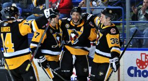 PENGUINS DEFEAT THUNDERBIRDS, 3-2