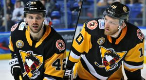 PENGUINS SIGN DEFENSEMEN MATT ABT AND JON LIZOTTE