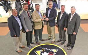 PENGUINS NAMED WILKES UNIVERSITY BUSINESS PARTNER OF THE YEAR