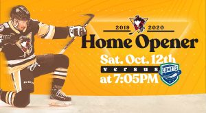 PENGUINS HOST 2019-20 HOME OPENER ON OCT. 12
