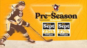 PENGUINS ANNOUNCE FOUR PRESEASON GAMES