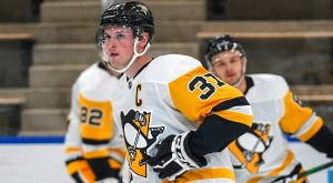 LAFFERTY LOOKS FITTING AS LEADER IN PENGUINS' FIRST GAME AT PROSPECTS CHALLENGE