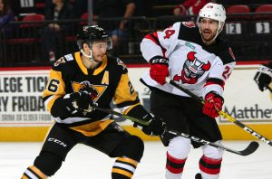 PENGUINS FALL TO DEVILS, 4-1