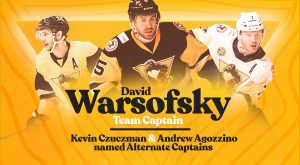 PENGUINS NAME DAVID WARSOFSKY TEAM CAPTAIN