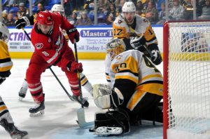 PENGUINS STREAK SNAPPED WITH 1-0 LOSS TO CHECKERS