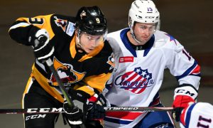 DESPITE LATE PUSH, PENGUINS LOSE IN ROCHESTER, 4-2