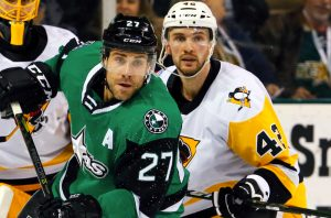 PENGUINS STALLED BY STARS, 5-2