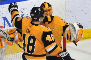 PENGUINS STUN WOLF PACK WITH 3-0 SHUTOUT WIN
