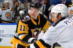 BARBER SCORES, BUT PENGUINS LOSE TO BRUINS