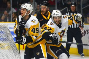PENGUINS FALL IN FINAL GAME OF THREE-IN-THREE, 2-1