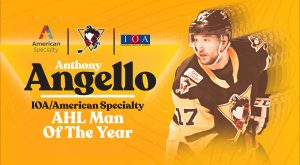 ANTHONY ANGELLO NAMED PENGUINS' IOA/AMERICAN SPECIALTY MAN OF THE YEAR