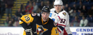 Read more about the article PENGUINS FALL IN OVERTIME TO THUNDERBIRDS, 2-1