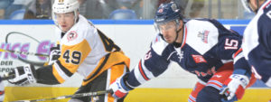 Read more about the article PENS RIDE THREE-GOAL FIRST TO 4-1 WIN IN HARTFORD