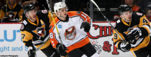 Read more about the article PENGUINS' COMEBACK FALLS JUST SHORT IN 5-3 LOSS TO PHANTOMS