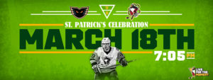 Read more about the article ST. PATRICK'S DAY CELEBRATION THIS SATURDAY NIGHT