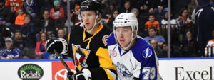 Read more about the article PENGUINS' POINT STREAK ENDS IN LOSS AT SYRACUSE