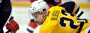 Read more about the article BLUEGER, BURTON BOTH SCORE TWICE IN PENS' OT WIN OVER DEVILS