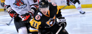 Read more about the article PENGUINS USE OFFENSIVE OUTBURST TO BEAT ICEHOGS, 6-3