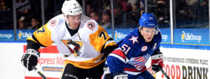 Read more about the article PENGUINS LOSE IN LONE VISIT TO ROCHESTER